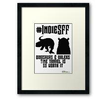 IndieSFF Dinosaurs and Daleks Framed Print