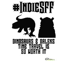 IndieSFF Dinosaurs and Daleks Photographic Print