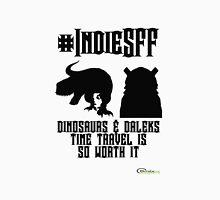 IndieSFF Dinosaurs and Daleks Unisex T-Shirt