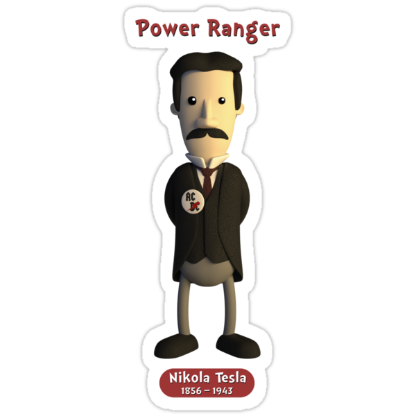 Nikola Tesla - Power Ranger by chayground
