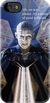 Hellraiser Pinhead iPhone case by Brian Varcas