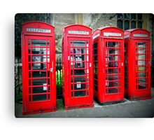 Iconic red telephone boxes Canvas Print