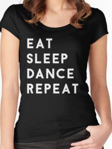 Eat Sleep Dance Repeat Women's Fitted Scoop T-Shirt