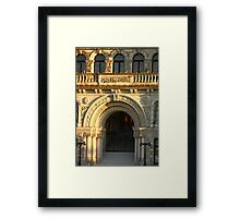 Arched Doorway of Victoria Parliament Framed Print