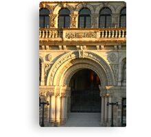 Arched Doorway of Victoria Parliament Canvas Print