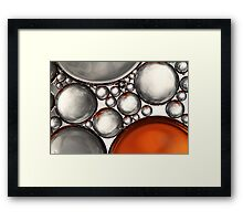 Mercury & Bronze Bubble Abstract Framed Print