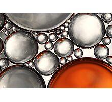 Mercury & Bronze Bubble Abstract Photographic Print