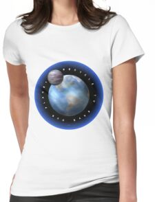 Recycle to save our planet earth Womens Fitted T-Shirt
