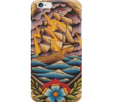 Ship in Stormy Weather iPhone Case/Skin