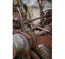 Rusted Machinery Photographic Print