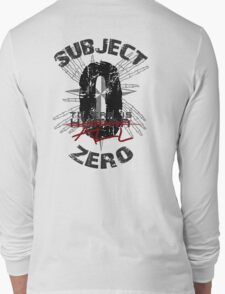 Subject Zero- To Err is All- Variant Long Sleeve T-Shirt