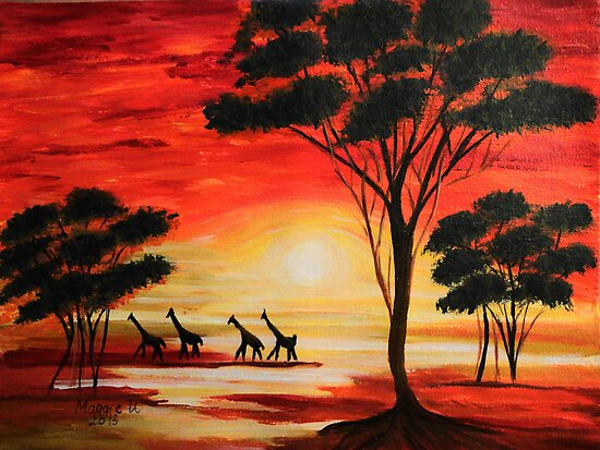 African  sunset by maggie326