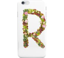 Capital Letter R Part of a set of letters, Numbers and symbols iPhone Case/Skin