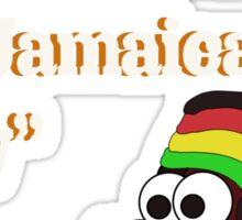 Jamaican me crazy! [White writing] Sticker