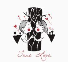 True Love T-shirt by illustratorRT