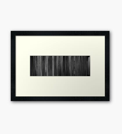 Moviebarcode: The Lady from Shanghai (1947) Framed Print