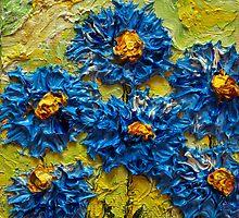 Blue Flower Cluster by OriginalbyParis