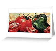 Garden Vegetables Greeting Card