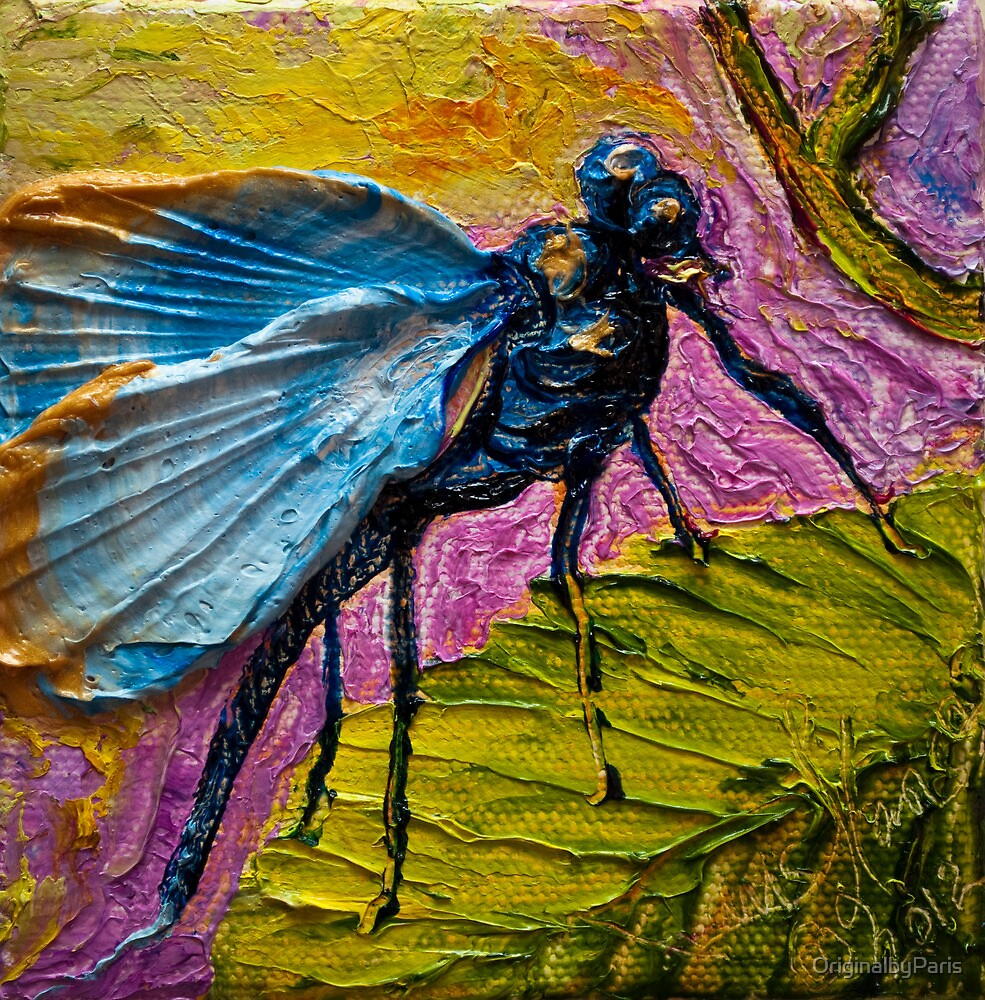Blue Dragonfly by OriginalbyParis
