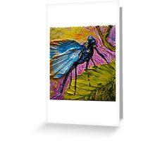 Blue Dragonfly Greeting Card