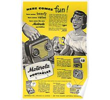 Retro Radio Ad Poster