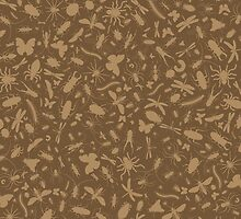 Creepy Crawly Pattern - Brown by chayground