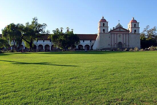 Santa Barbara Mission by Henrik Lehnerer