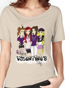 Love Love Purple Women's Relaxed Fit T-Shirt