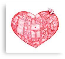 Heart Cabinet Canvas Print