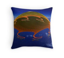 The Thing From Mars Throw Pillow