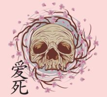CHERRY BLOSSOM SKULL One Piece - Short Sleeve
