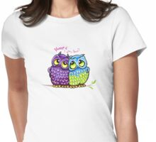 Owls in Love Womens Fitted T-Shirt