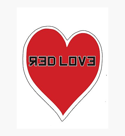 Red Love Heart Photographic Print