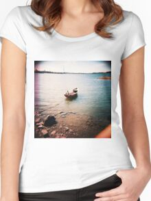 tämä on vene- this is a boat Women's Fitted Scoop T-Shirt