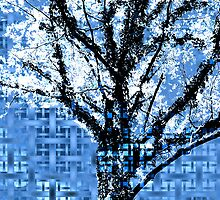 Entwined in Blue by SRowe Art