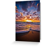 Stepping Into Sunrise Greeting Card