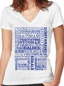 Intergalactic Alien Bingo! Women's Fitted V-Neck T-Shirt