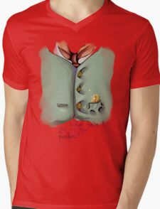 Pocket 02 Mens V-Neck T-Shirt