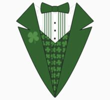 St. Patrick's Day Tux One Piece - Long Sleeve