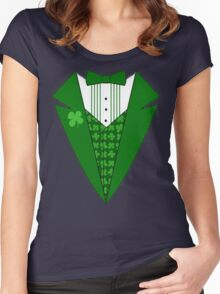 St. Patrick's Day Tux Women's Fitted Scoop T-Shirt