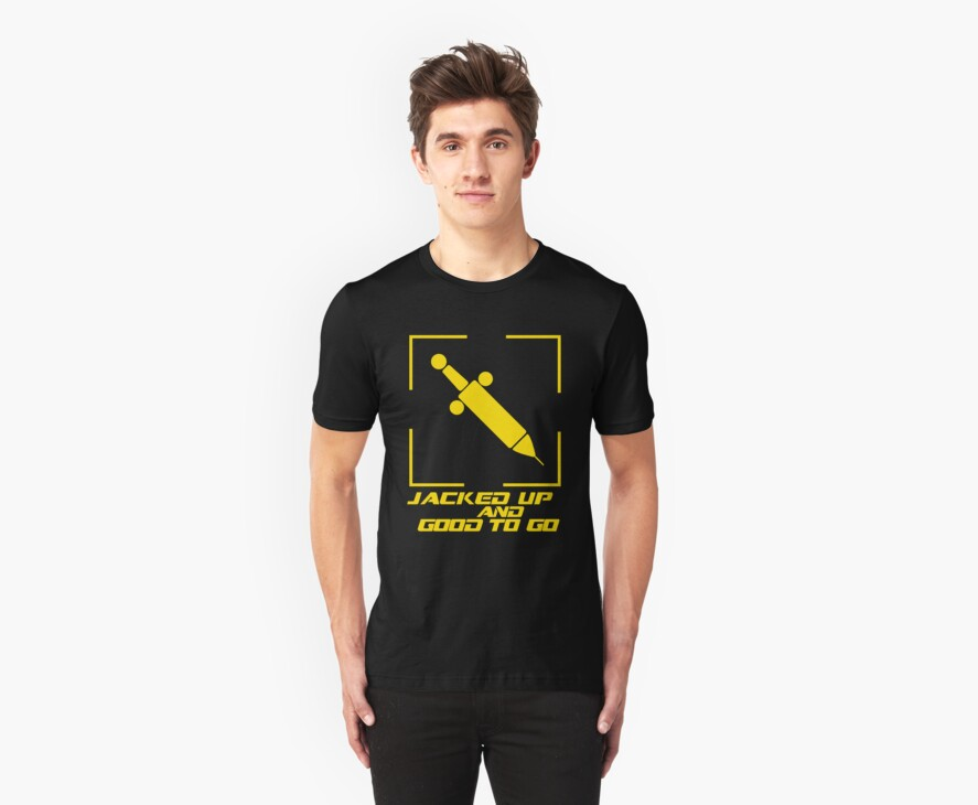 Jacked Up and Good To Go! - Yellow by Shirts For Cool People