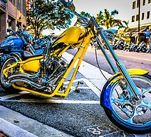 Yellow Beasty Bike by Chris L Smith