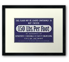 150 Pounds Framed Print