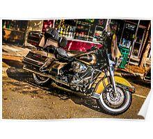 Custom vintage Harley motorcycle  Poster