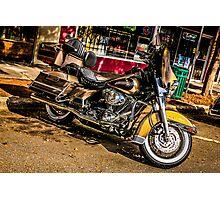 Custom vintage Harley motorcycle  Photographic Print