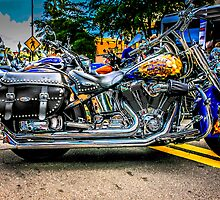 Custom paint Harley Davidson Motorcycle  by Chris L Smith