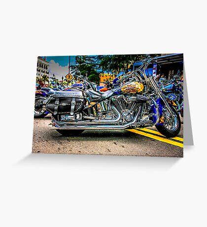 Custom paint Harley Davidson Motorcycle  Greeting Card