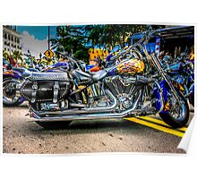 Custom paint Harley Davidson Motorcycle  Poster