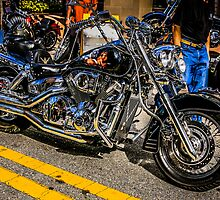Custom paint Harley hog Motorcycle by Chris L Smith