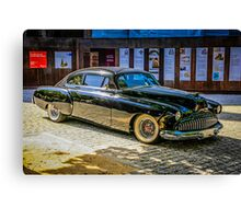 Black 1950s Custom American Car Canvas Print